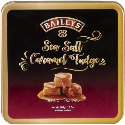 Baileys Sea Salt & Caramel Fudge In Tin 100g (Contains Alcohol)