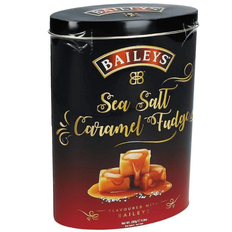Baileys Sea Salt & Caramel Fudge In Tin 250g (Contains Alcohol)