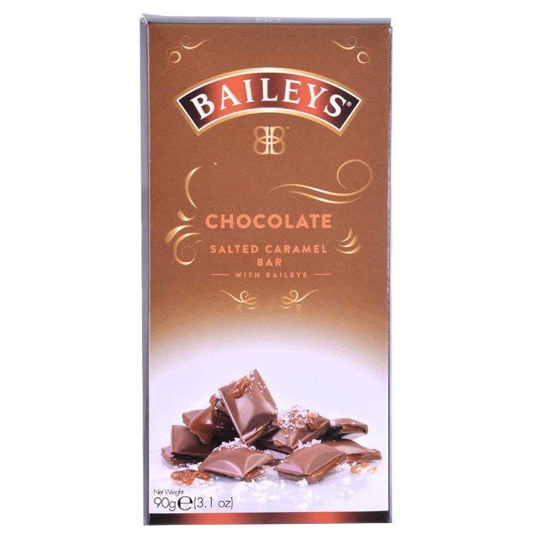 Baileys Salted Caramel Milk Chocolate And Truffle Bar 90g (Contains Alcohol)