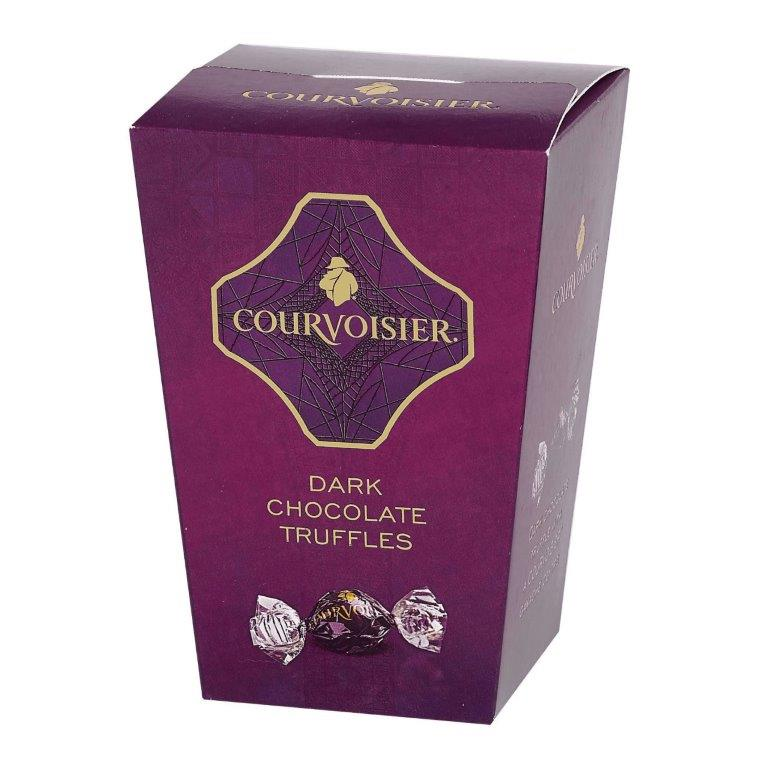 Courvoisier Flavoured Belgian Dark Chocolate Truffles In Tapered Box 130g (Contains Alcohol)