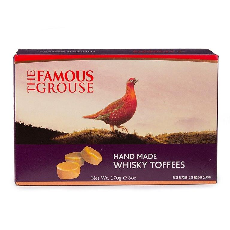 Famous Grouse Whisky Toffees Carton 170g (Contains Alcohol)