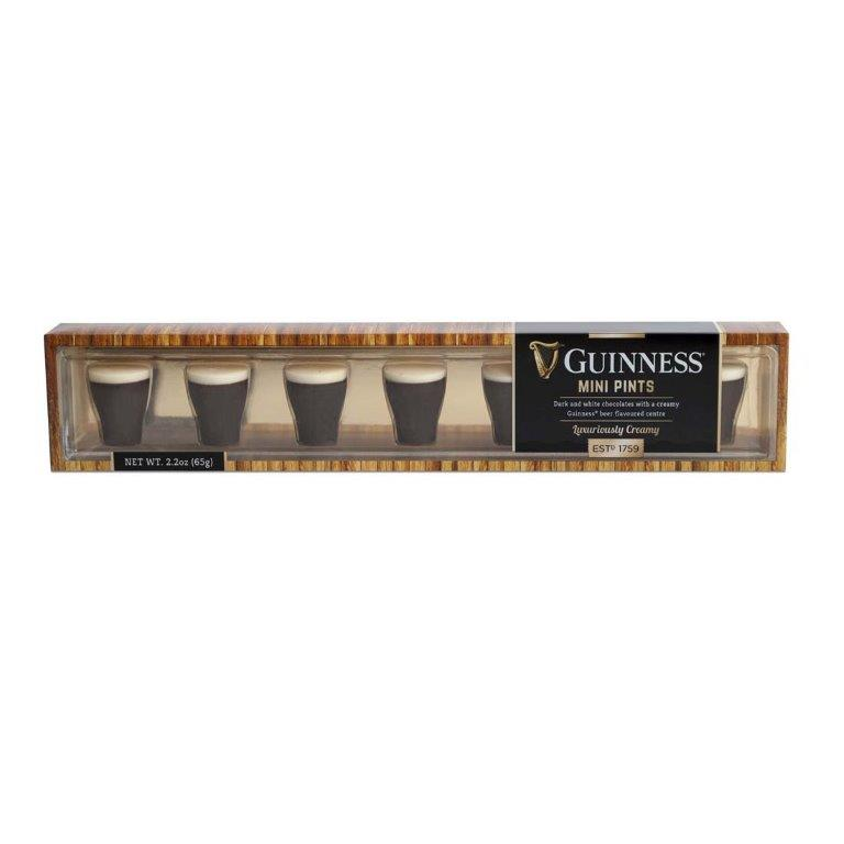 Guinness Milk And White Chocolate Mini Pints In Acetate Carton 65g (Contains Alcohol)
