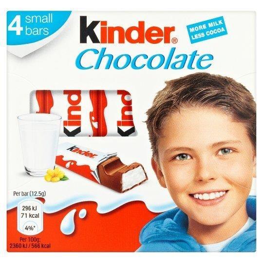 Kinder Chocolate Bar 4pk T4 (4 x 12.5g)