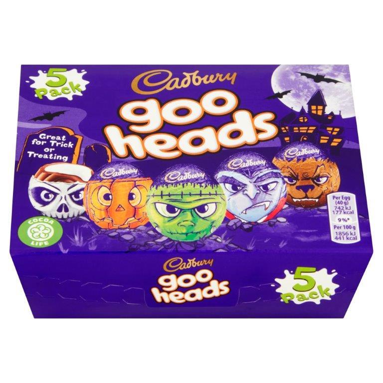 Cadbury Goo Heads Eggs 5pk (5 x 40g)