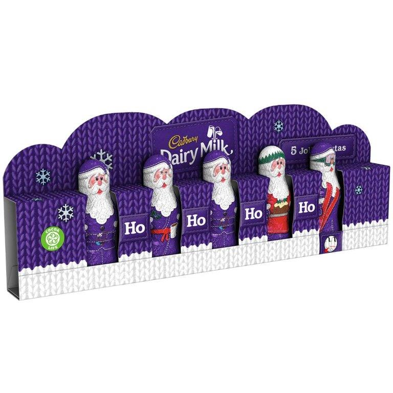 Cadbury Dairy Milk Hollow Santas 5pk (5 x 25g)