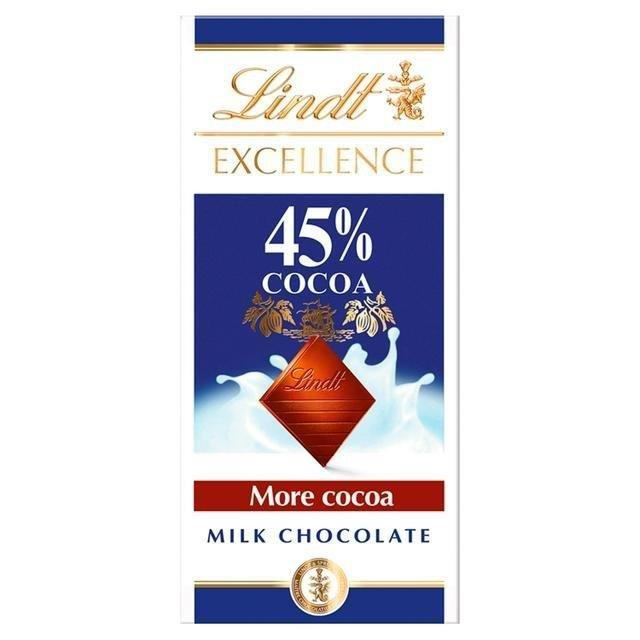 Lindt Excellence Milk Cocoa 45% 80g