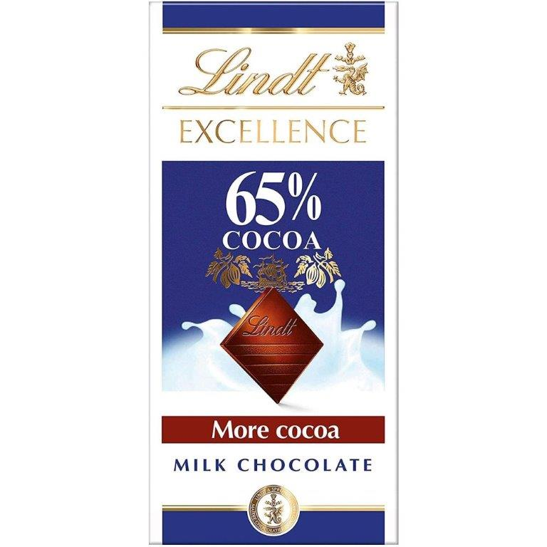 Lindt Excellence Milk Cocoa 65% 80g