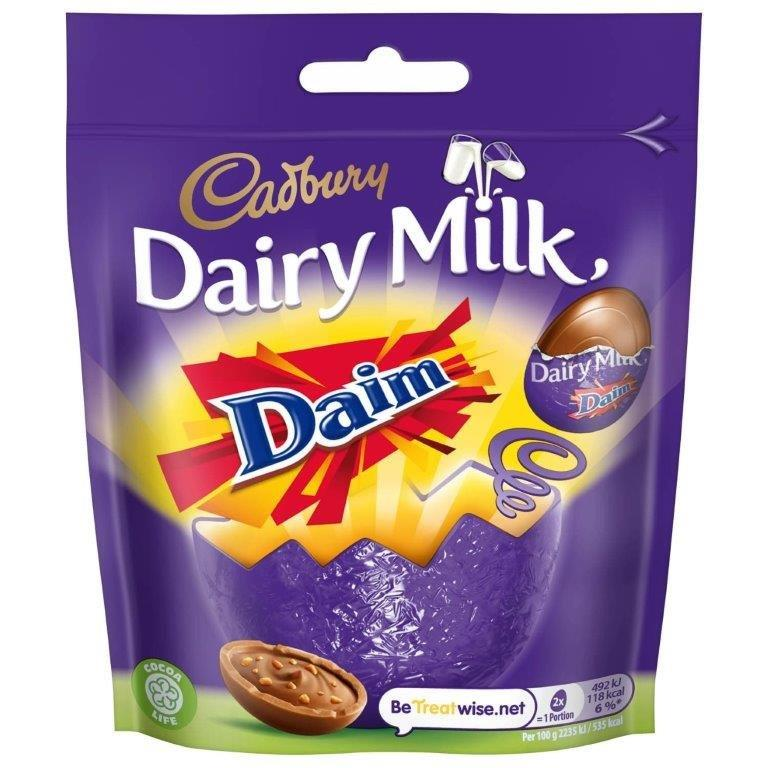 Cadbury Dairy Milk Mini Daim Eggs Bag 77g
