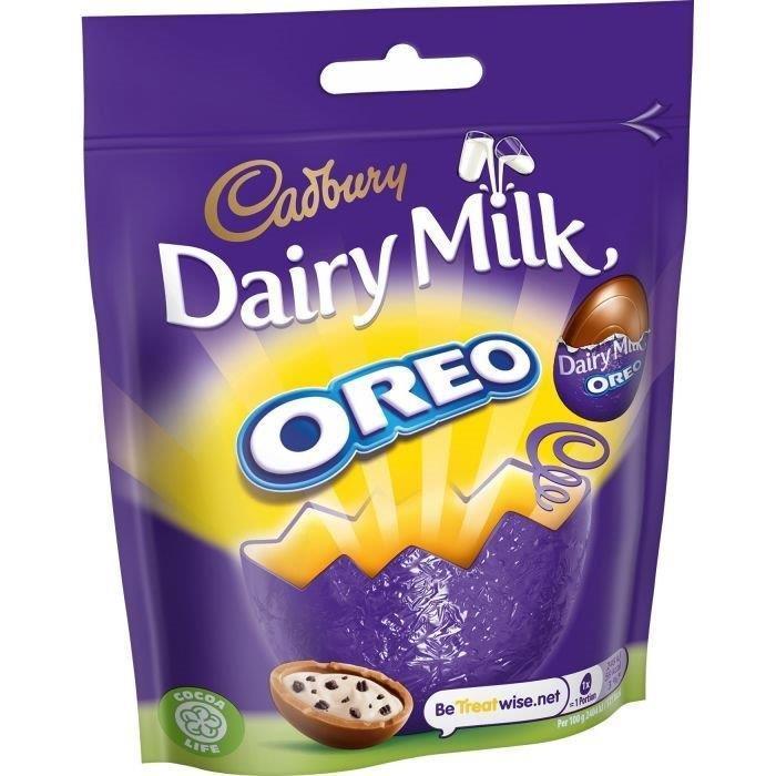 Cadbury Dairy Milk Mini Oreo Eggs Bag 72g