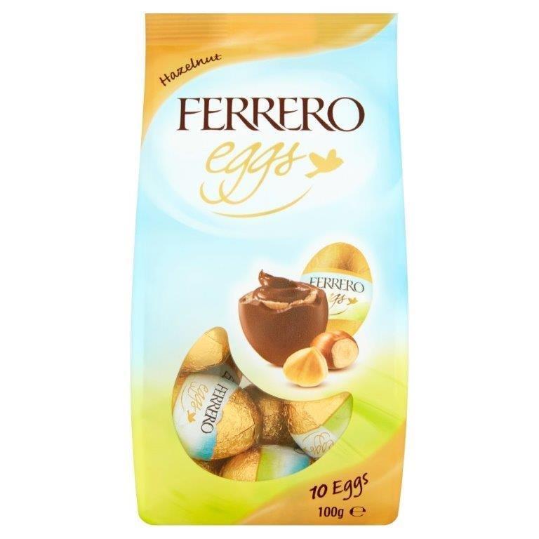 Ferrero Easter Mini Eggs Hazelnut Bag T10 100g