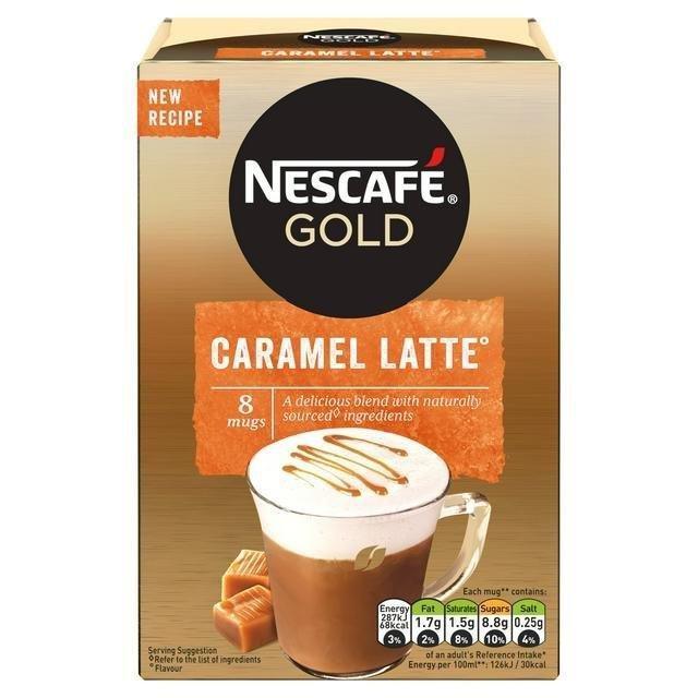 Nescafe Sachets Gold Latte Caramel 8's (8 x 17g)
