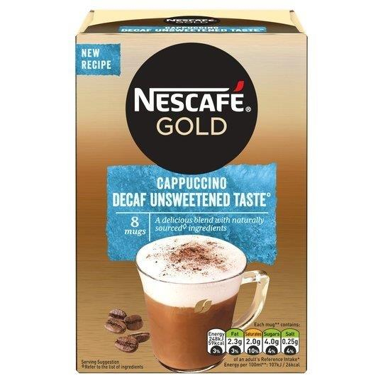 Nescafe Sachets Gold Cappuccino Decaf Unsweetened 8's (8 x 15g)