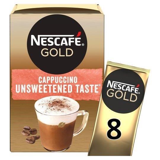 Nescafe Sachets Gold Cappuccino Unsweetened 8's (8 x 14.2g)