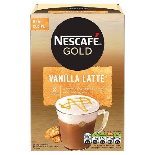 Nescafe Sachets Gold Latte Vanilla 8's (8 x 18.5g)