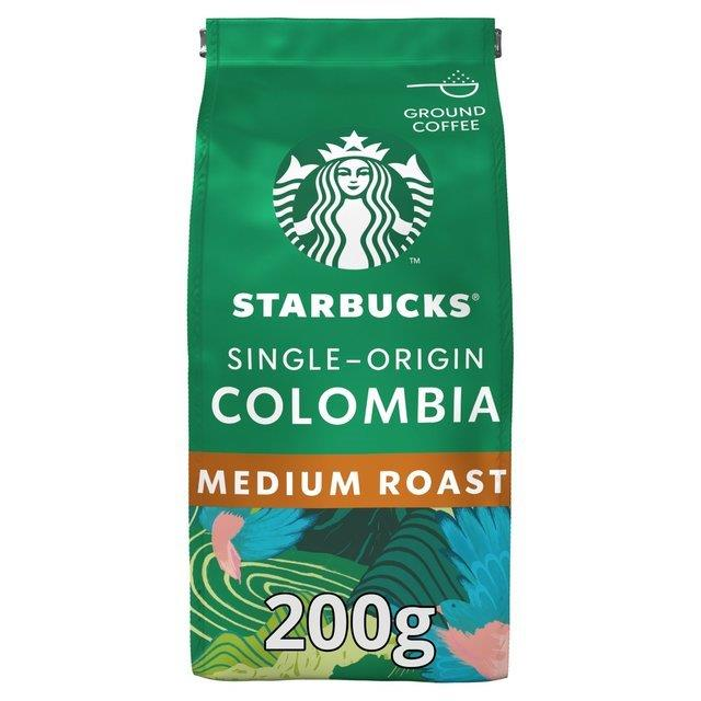 Starbucks Beans Ground Medium Colombia 200g