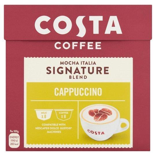 Costa Dolce Gusto Cappuccino 8 + 8's
