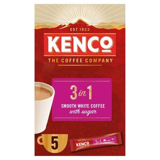 Kenco 3 in 1 Smooth White Instant Coffee 5's (5 x 20g)