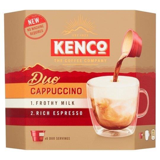 Kenco Duo Cappucino Instant Coffee 6pk (6 x 24g) PM £3.49