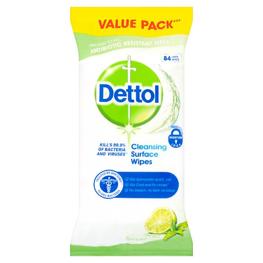 Dettol Anti-Bacterial Wipes Lime 84's