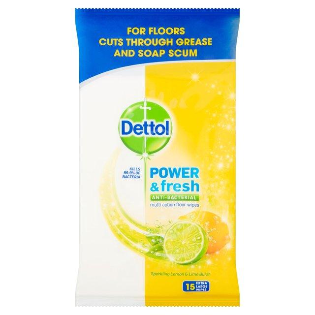 Dettol Floor Wipes Citrus 15