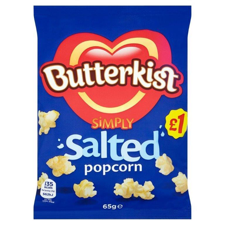 Butterkist Popcorn Salted Bag 65g PM £1