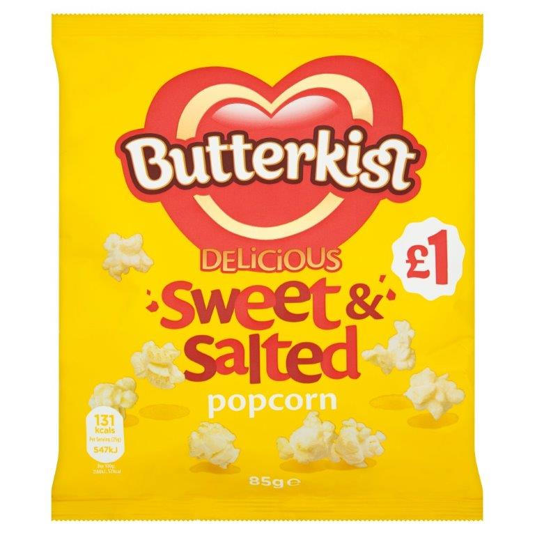 Butterkist Popcorn Sweet & Salted 85g PM £1