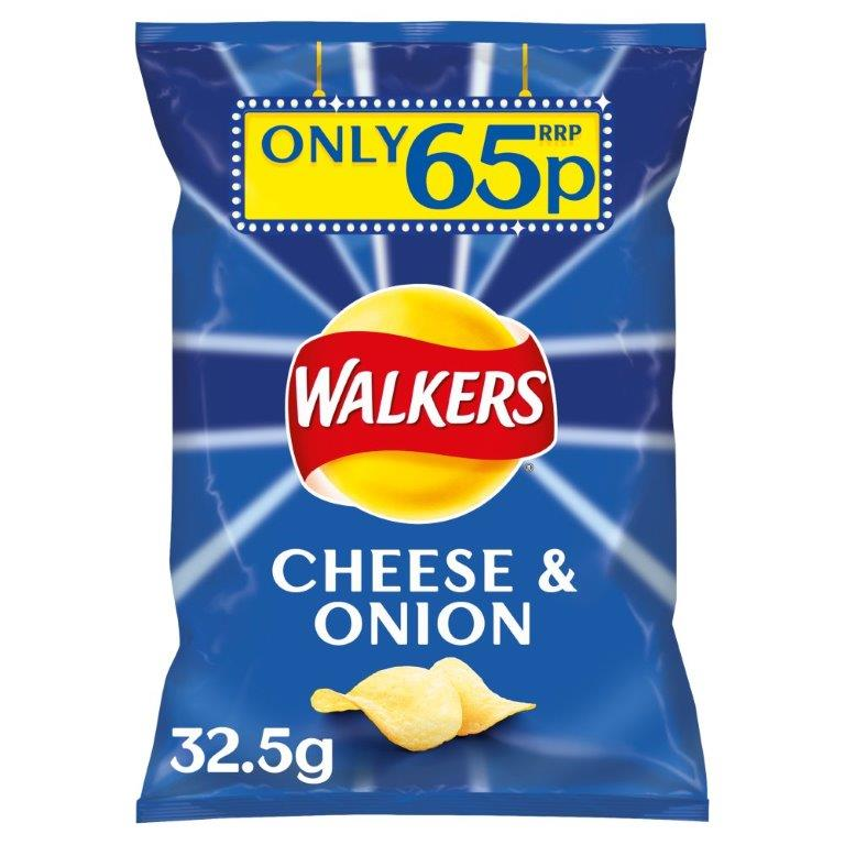 Walkers Crisps Cheese & Onion 32.5g PM 65p