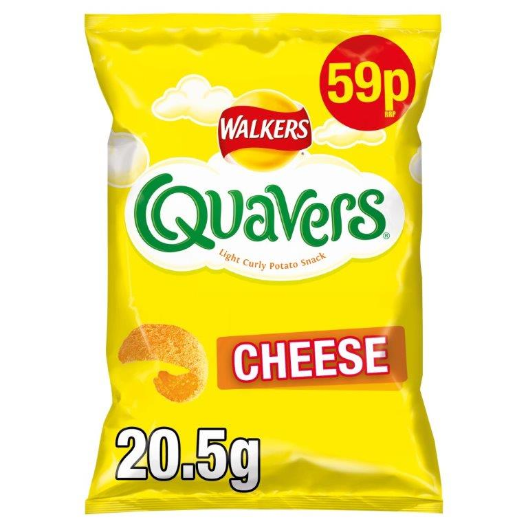 Walkers Quavers Cheese 20.5g PM 59p