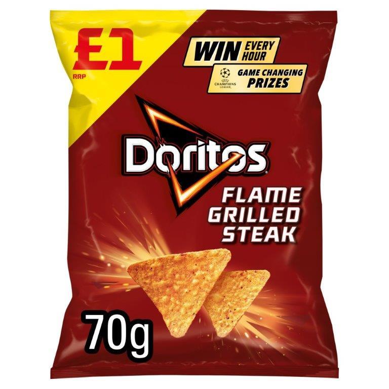 Doritos Flame Grilled Steak 70g PM £1