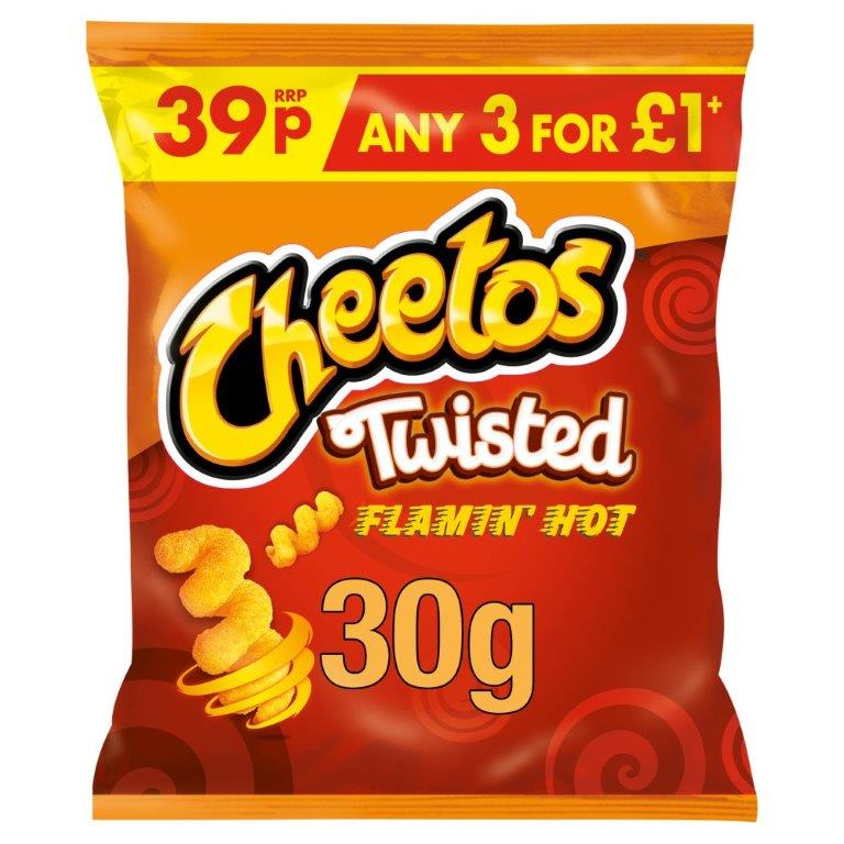 Cheetos Twisted Flamin' Hot Snacks 30g PM 39p / 3 For £1