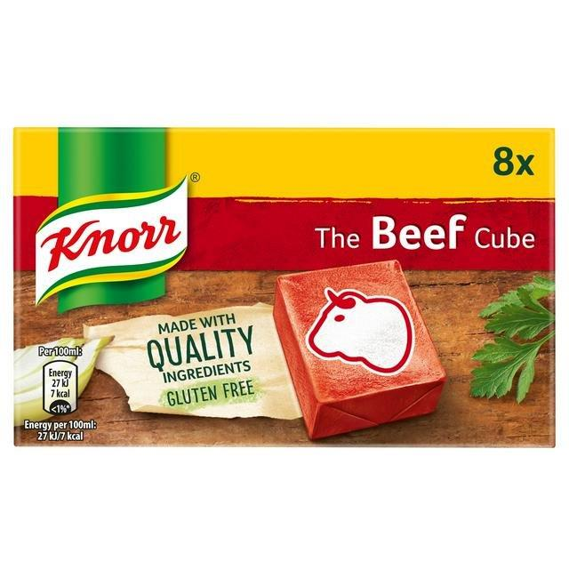 Knorr Stock Cubes Box Beef 8's (8 x 10g)