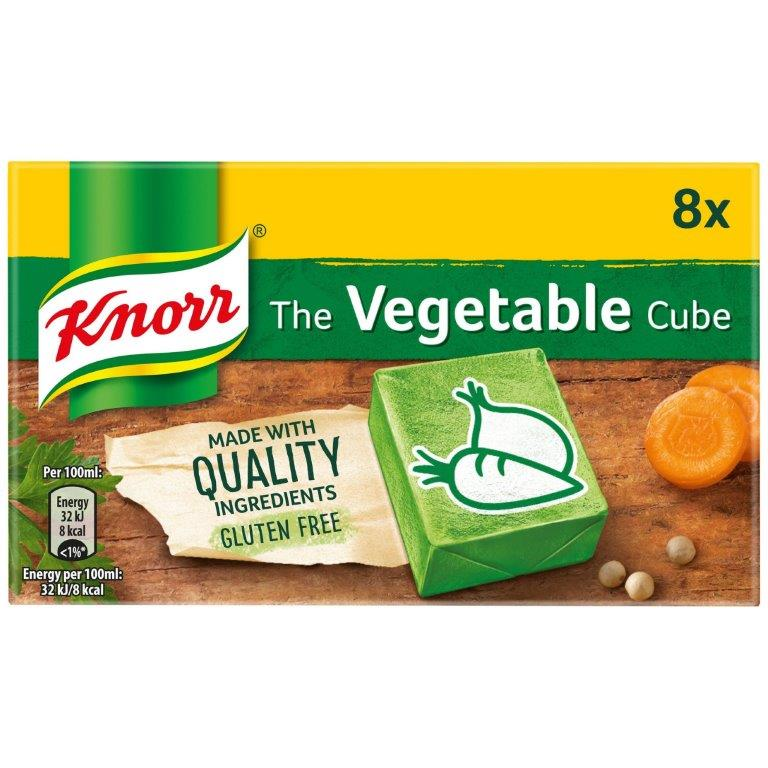 Knorr Stock Cubes Box Veg 8's (8 x 10g)