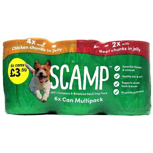 Scamp Mixed Variety Chunks In Jelly 6pk (6 x 400g) PM £3.50