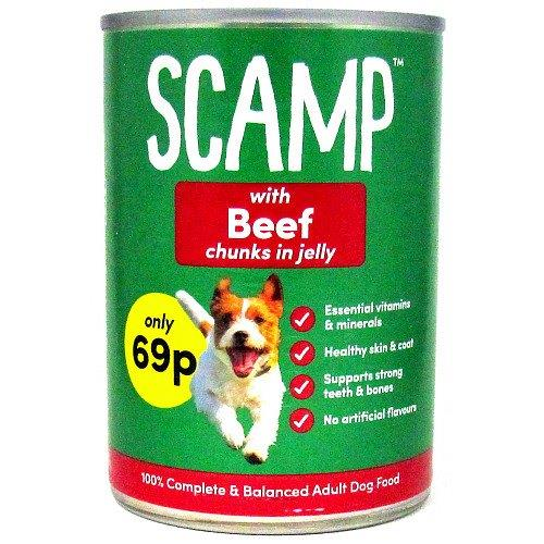 Scamp Beef Can 500g PM 69p