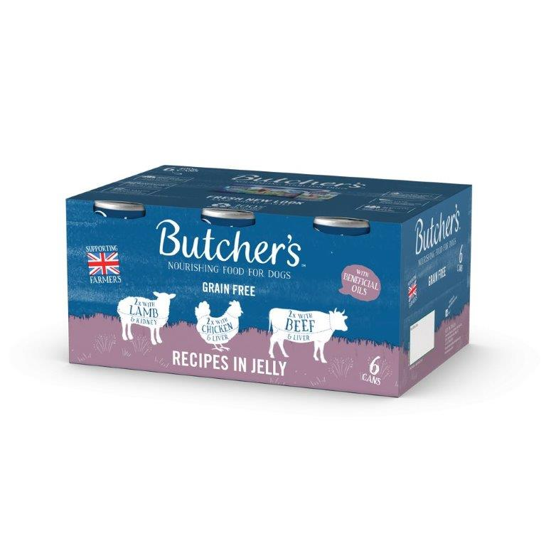 Butcher's Meaty Recipes In Jelly Can 6pk (6 x 400g)