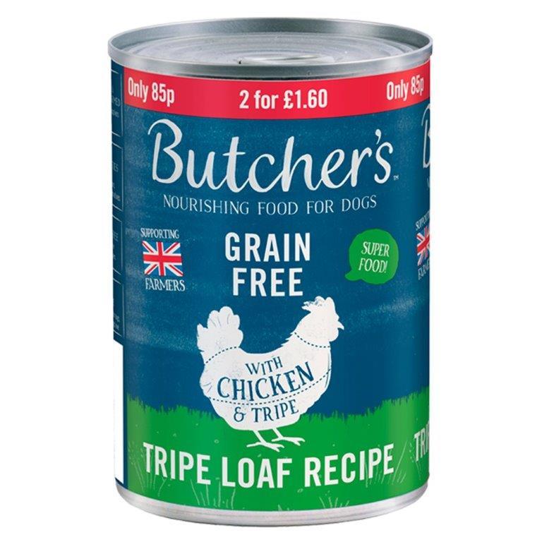 Butcher's Chicken & Tripe Loaf 400g PM 85p