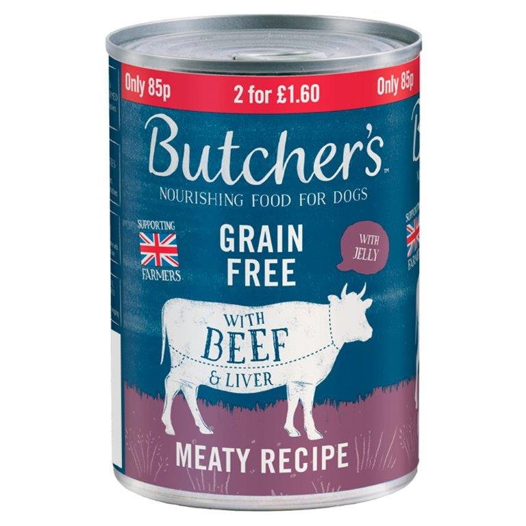 Butcher's Beef & Liver Can 400g PM 85p