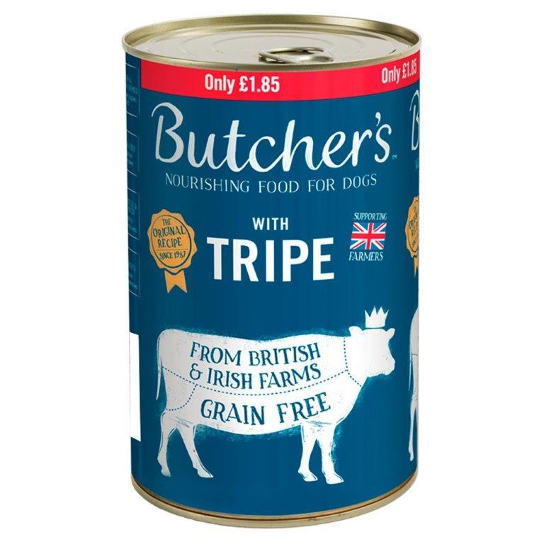 Butcher's Original Tripe Loaf Can 1.2kg PM £1.85
