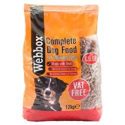 Webbox Complete Dog Food Beef 12kg PM £9.99