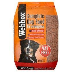 Webbox Complete Dog Food Beef 15kg PM £12.99