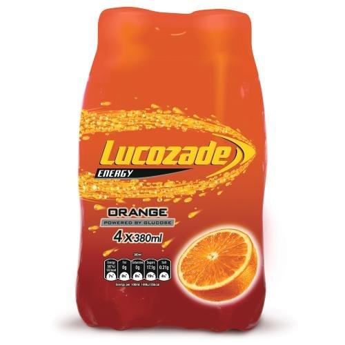 Lucozade 4pk Orange (4 x 380ml)