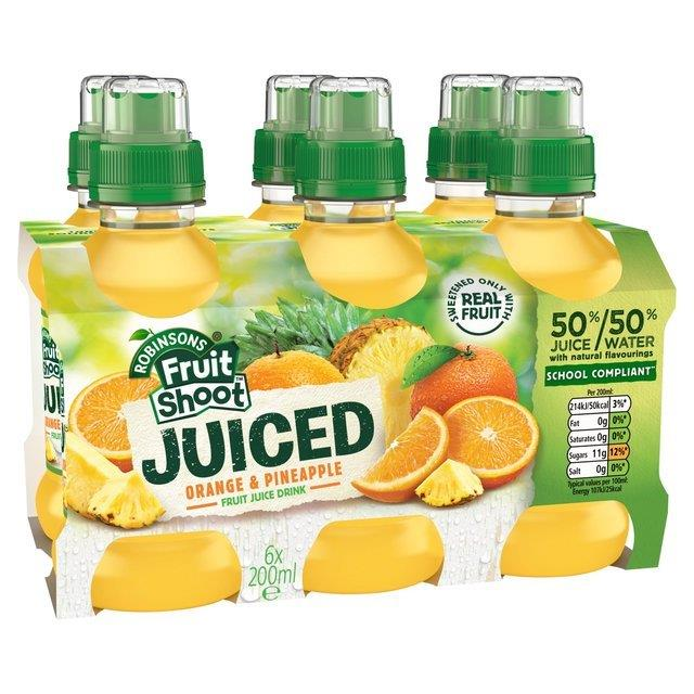 Fruit Shoot Juiced Orange/Pineapple PET 6pk (6 x 200ml)
