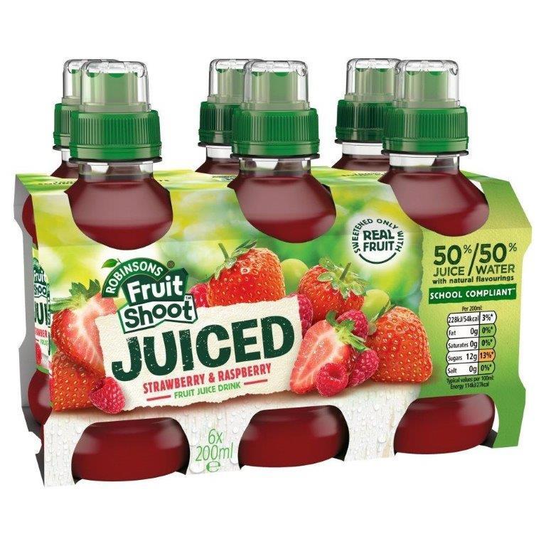 Fruit Shoot Juiced Stw/Raspberry PET 6pk (6 x 200ml)