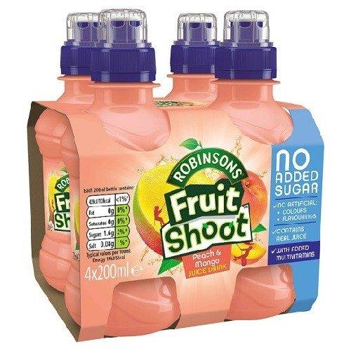 Fruit Shoot Peach/Mango NAS 4pk (4 x 200ml)