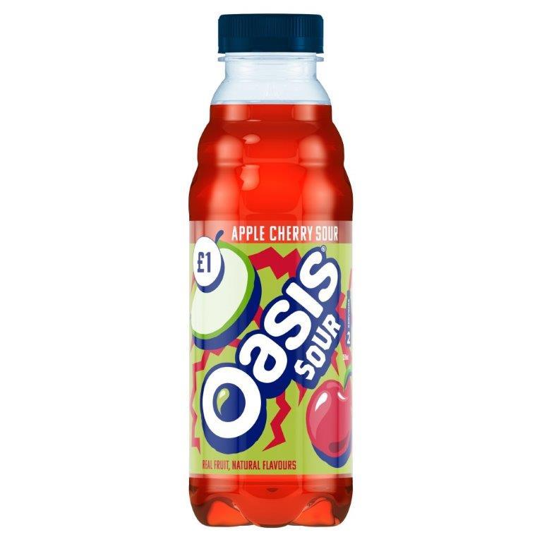 Oasis Apple Cherry Sour PET 500ml PM £1