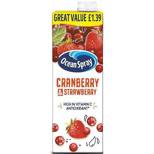 Ocean Spray Cranberry & Strawberry 1L PM £1.39