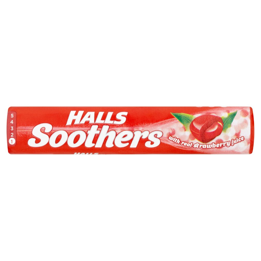Halls Soothers Strawberry 45g