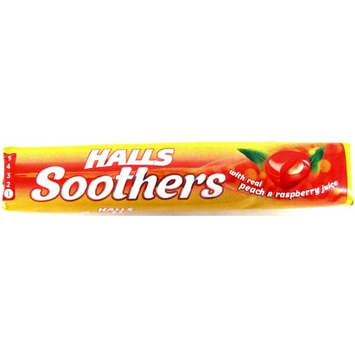 Halls Soothers Peach & Raspberry 45g