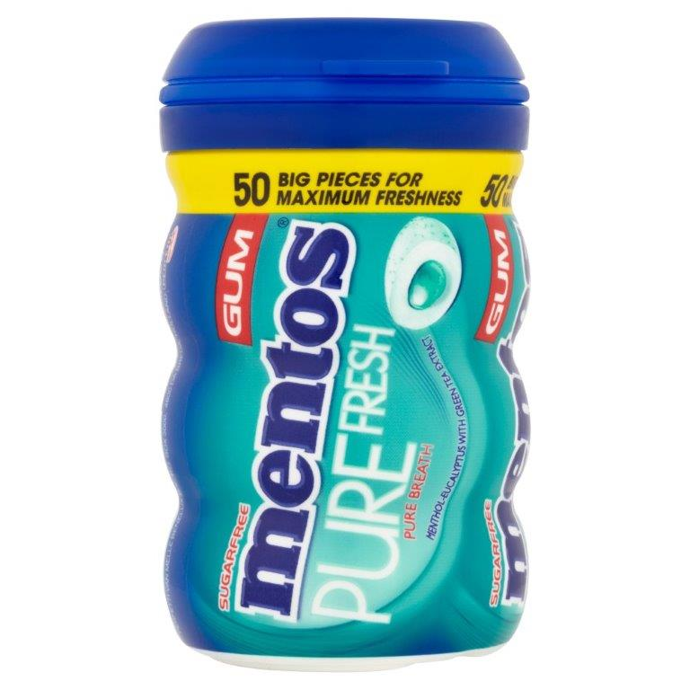 Mentos Pure Fresh Gum 50's Freshmint 100g