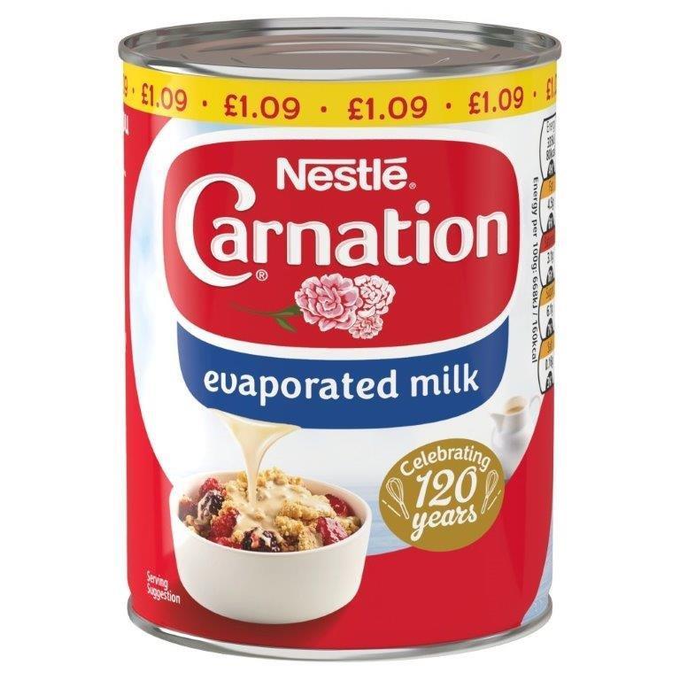 Carnation Evaporated Milk 410g PM £1.09